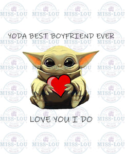 Yoda Best Boyfriend Ever Waterslide