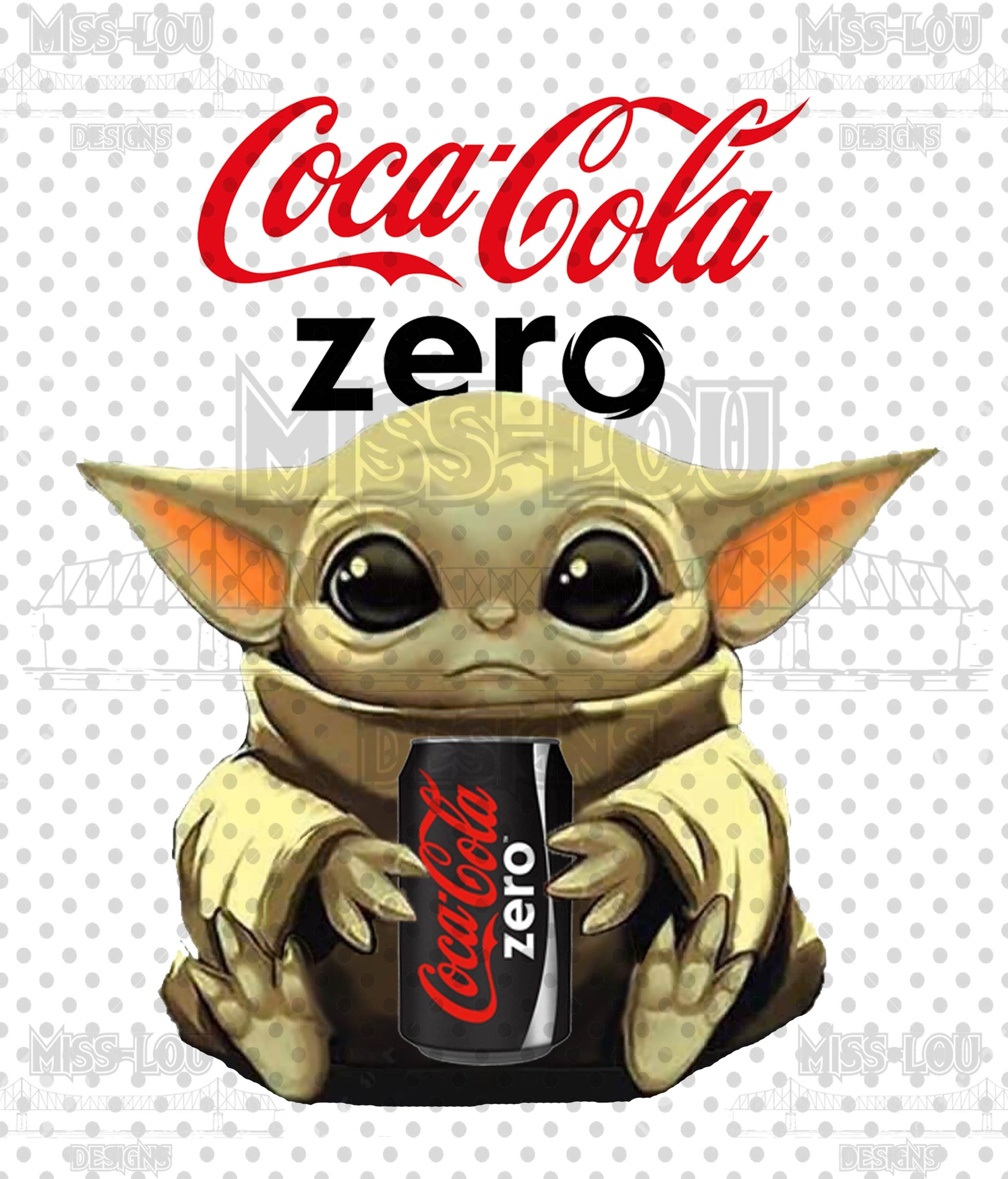 Baby Yoda Coke Zero Digital Download
