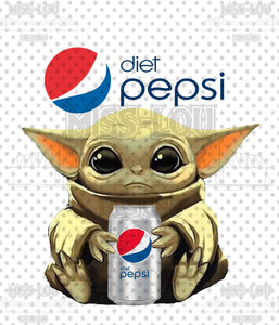 Baby Yoda Diet Pepsi Waterslide