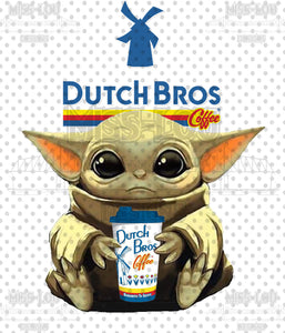 Baby Yoda Dutch Brothers Waterslide