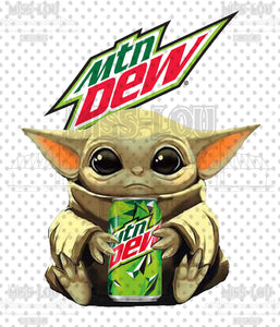 Baby Yoda Mt. Dew Digital Download