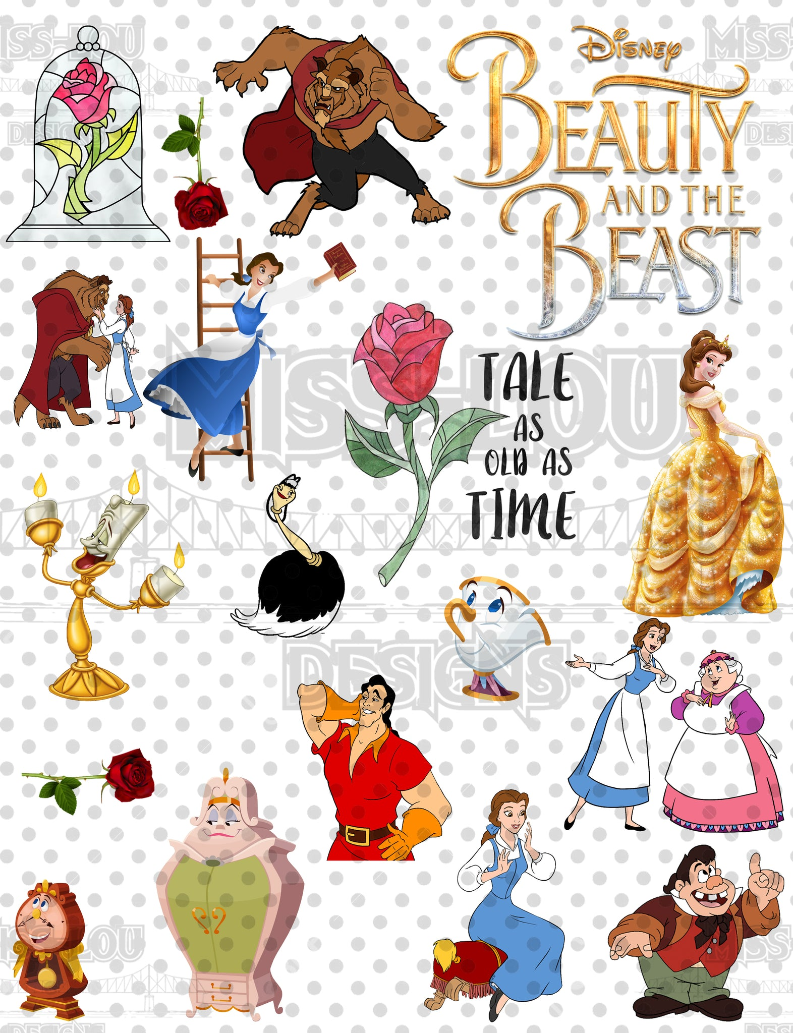Beauty and the Beast Sheet Digital Download