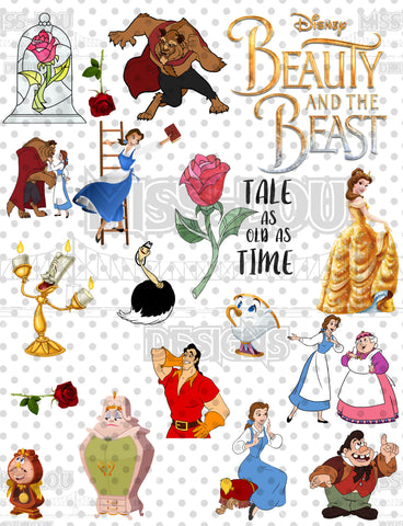 Beauty and the Beast Sheet Waterslide