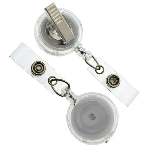 10 Clear Badge Reels with Alligator Swivel Clip