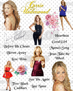 Carrie Underwood Fan Sheet Waterslide