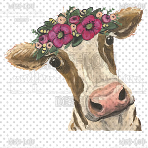 Cow with pink flowers Waterslide