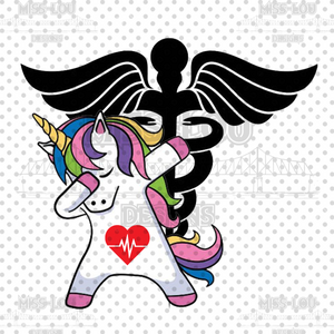 Dabbing Unicorn Nurse Digital Download