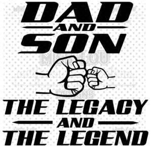 Dad and Son Legacy Legend Digital Download