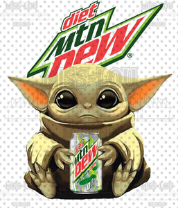 Diet Mt. Dew Baby Yoda Digital Download