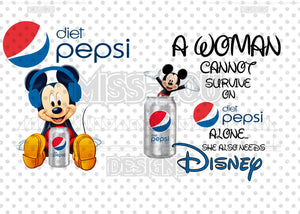 A woman Cannot Survive on Diet Pepsi Alone She Needs 2 Piece Set Exclusive Waterslide
