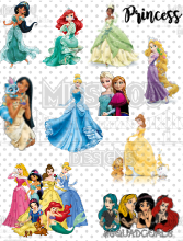 Princess Fan Sheet Digital Download