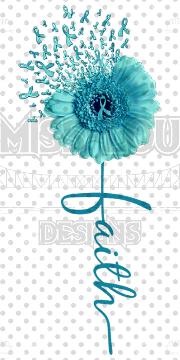 Faith Daisy Dark Teal Waterslide
