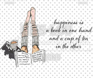 Happiness is book in hand Set Digital Download