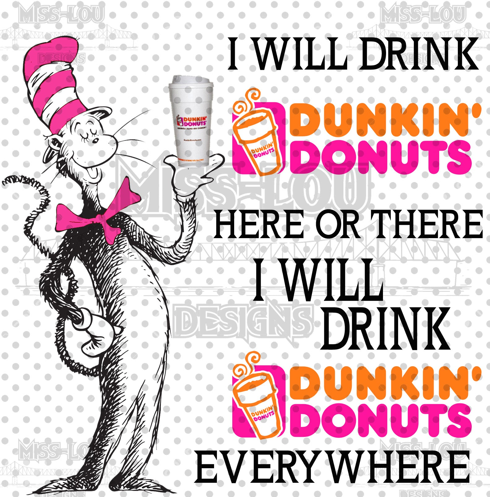 Cat In The Hat Dunkin Donuts Waterslide