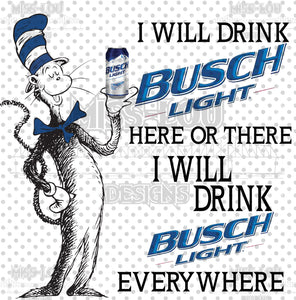 Cat In The Hat Busch Light Waterslide