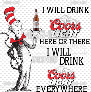 Cat In The Hat Coors Light Digital Download