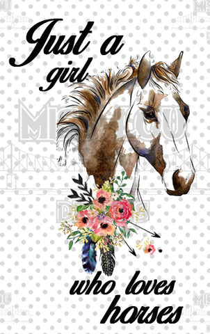 Just a girl who loves horses Digital Download