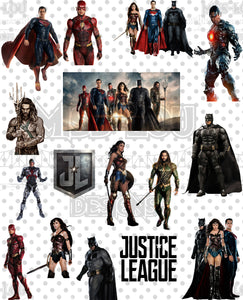 Justice League Fan Sheet Digital Download