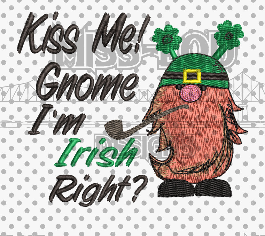 Kiss me Gnome Digital Download