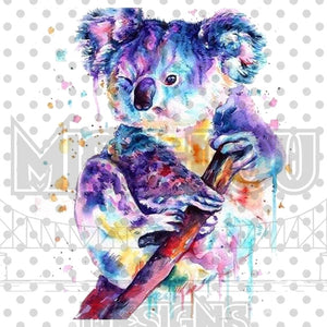 Watercolor Kola Bear Digital Download