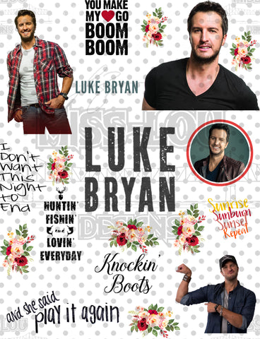 Luke Bryan  Fan Sheet Waterslide