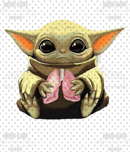 Baby Yoda holding Lungs Digital Download