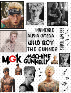 Machine Gun Kelly V2 Fan Sheet Waterslide