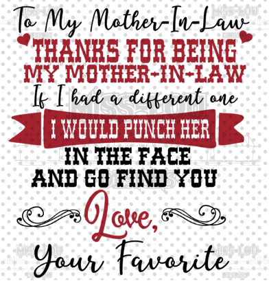 To My Mother In Law Digital Download
