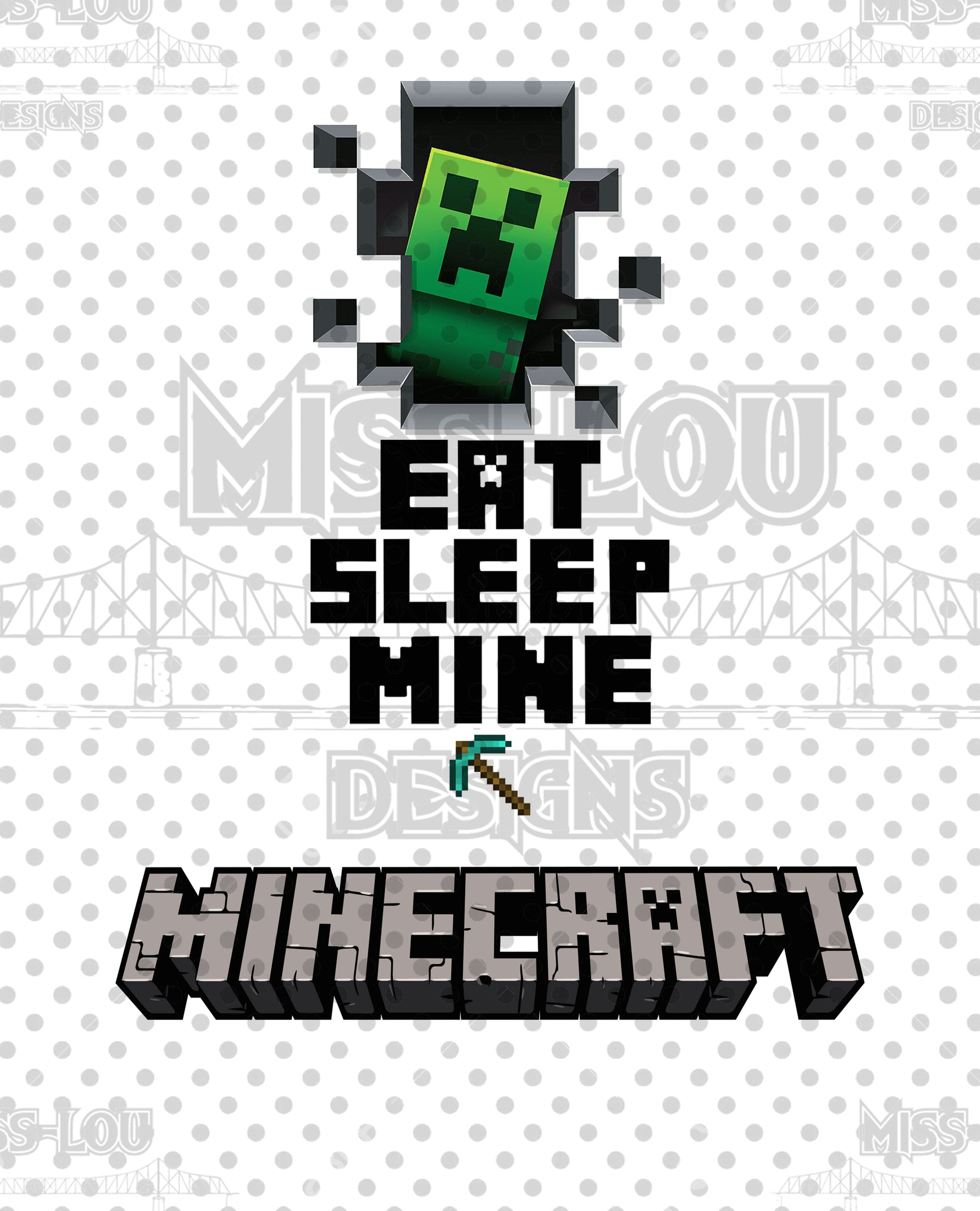 Eat Sleep Minecraft Set Digital Download