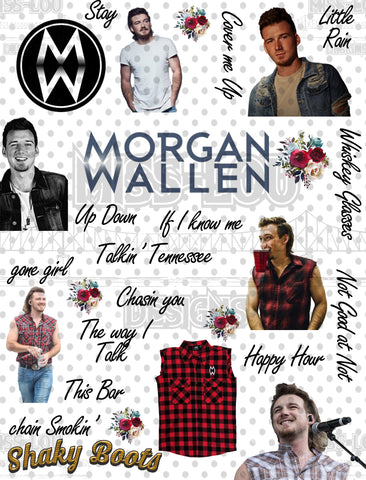 Morgan Wallen Fan Sheet  Waterslide