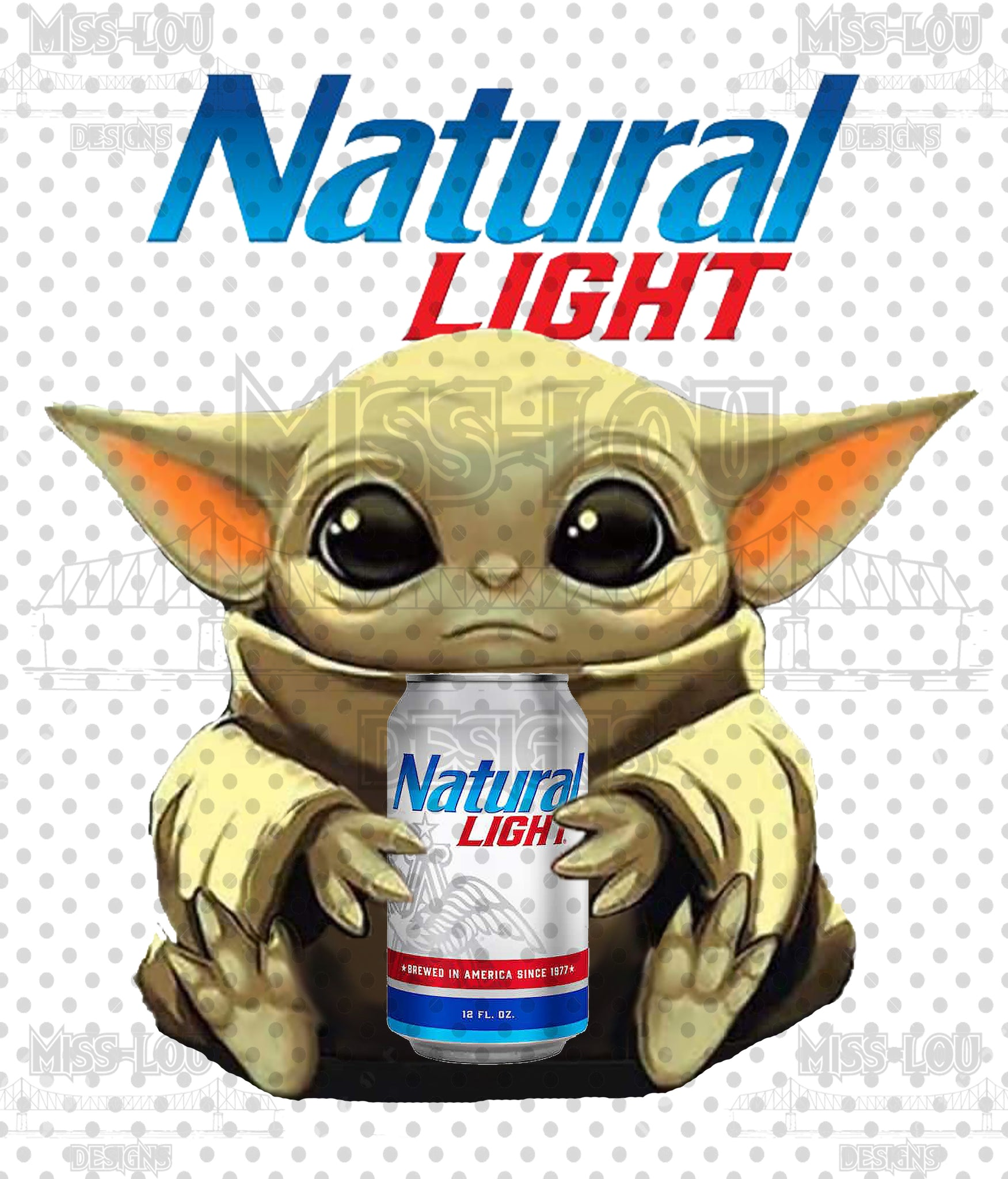 Natural Light Baby Yoda Waterslide