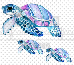 Watercolor Sea Turtle Waterslide