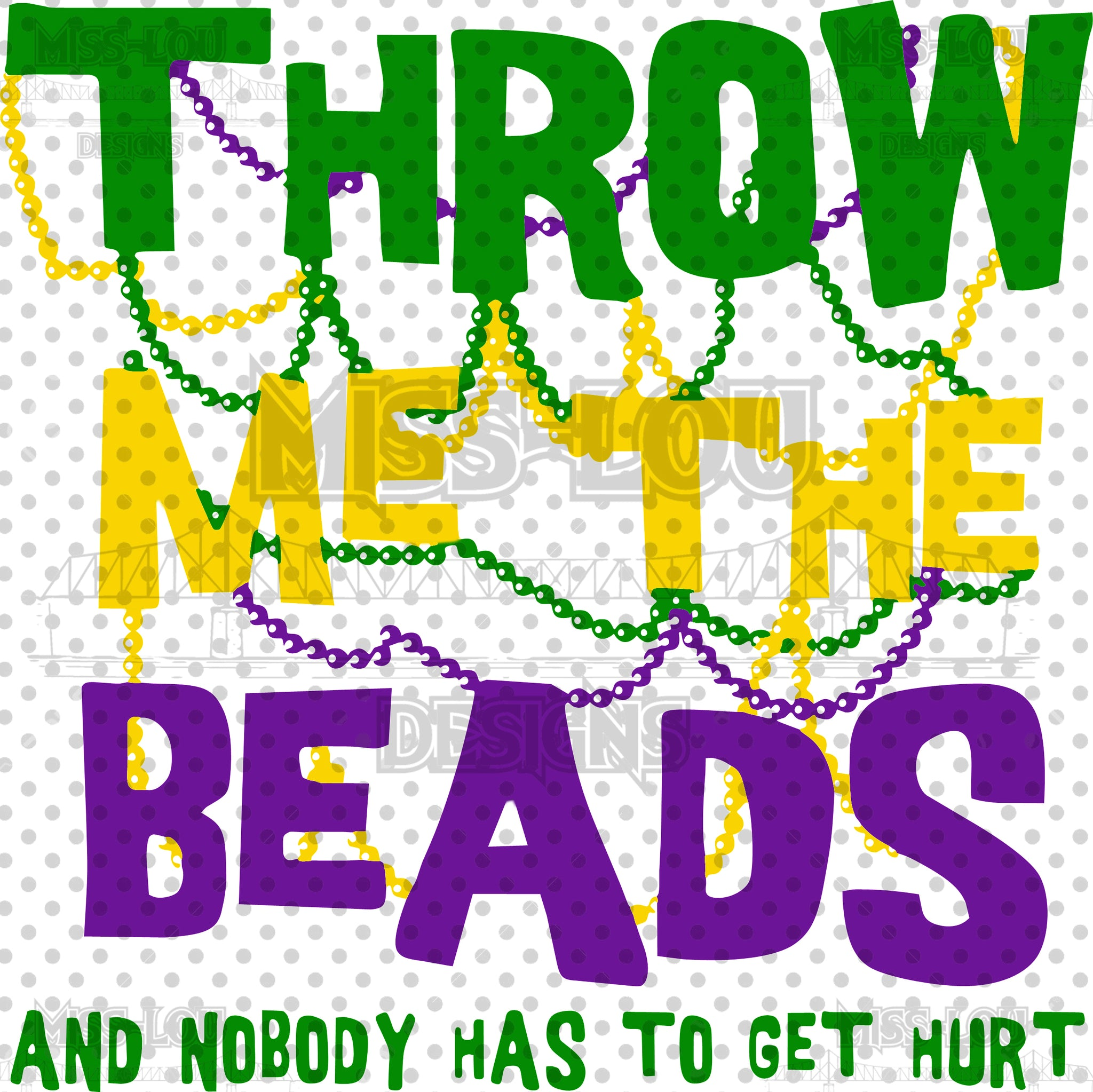 Throw me the Beads Digital Download