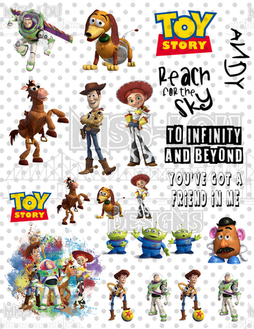 Toy Story Fan Sheet Waterslide