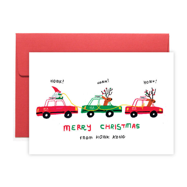 Greeting Card - Taxi Christmas Card