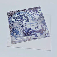 Greeting Card - Blue and White Ceramics