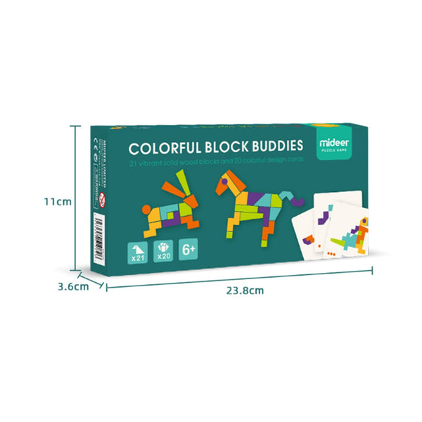 Colorful Block Buddies Puzzle