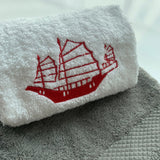 Face Towel With Embroidery
