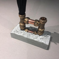 Concrete x Brass Umbrella holder