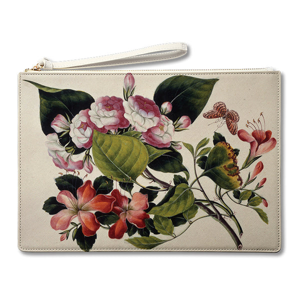 Study of Flowers Pouch 蝶與花 手提袋