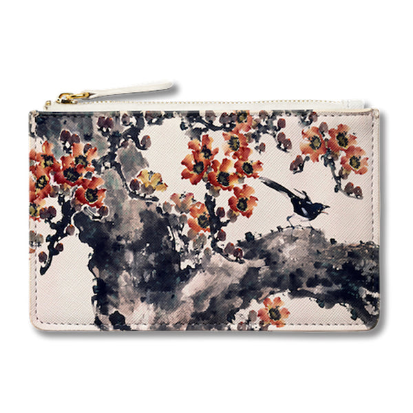 A Magpie on the Red Cotton Tree Pouch 紅棉手提袋