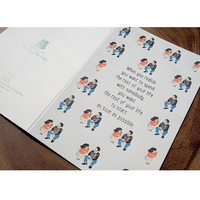 Letterpress Greeting Card - Movie Love