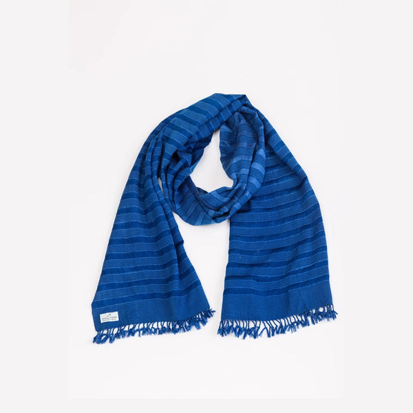 Handmade Bhutan Scarf - Royal Blue