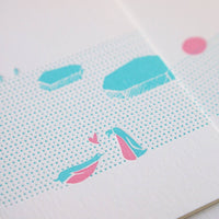 Letterpress Greeting Card - For Love 1
