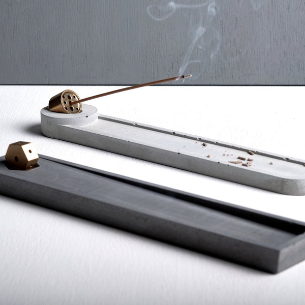 Concrete Long+Rectangle-shaped Incense Holder