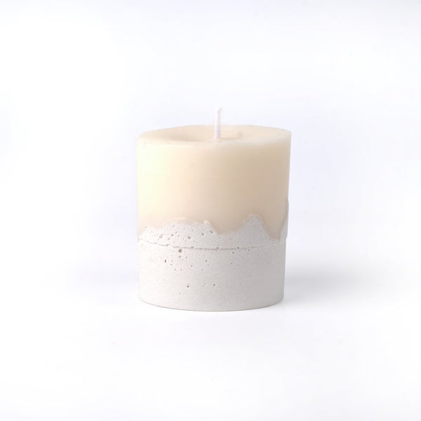 Concrete Base with Cotton Wick Candle