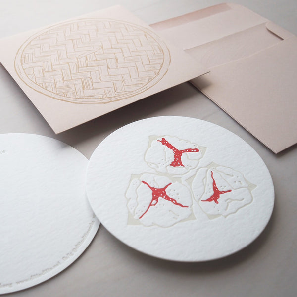 Letterpress Food Notecard - Dim Sum