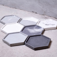 Concrete Small Hexagon Tray