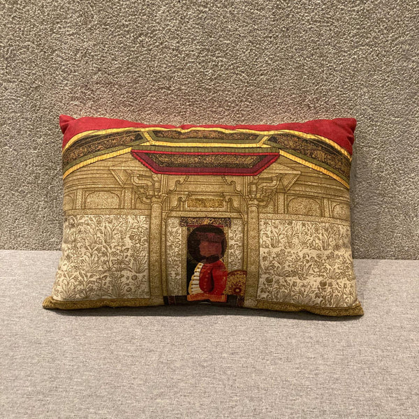 "Shahzia Sikander ""The Last Post, 2010"" Cushion Cover"