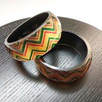 Foil Paper and Resin Bangle